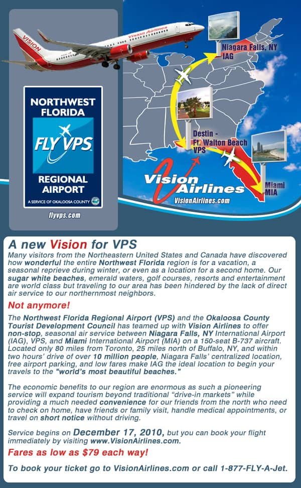 Stl from to vps direct flights
