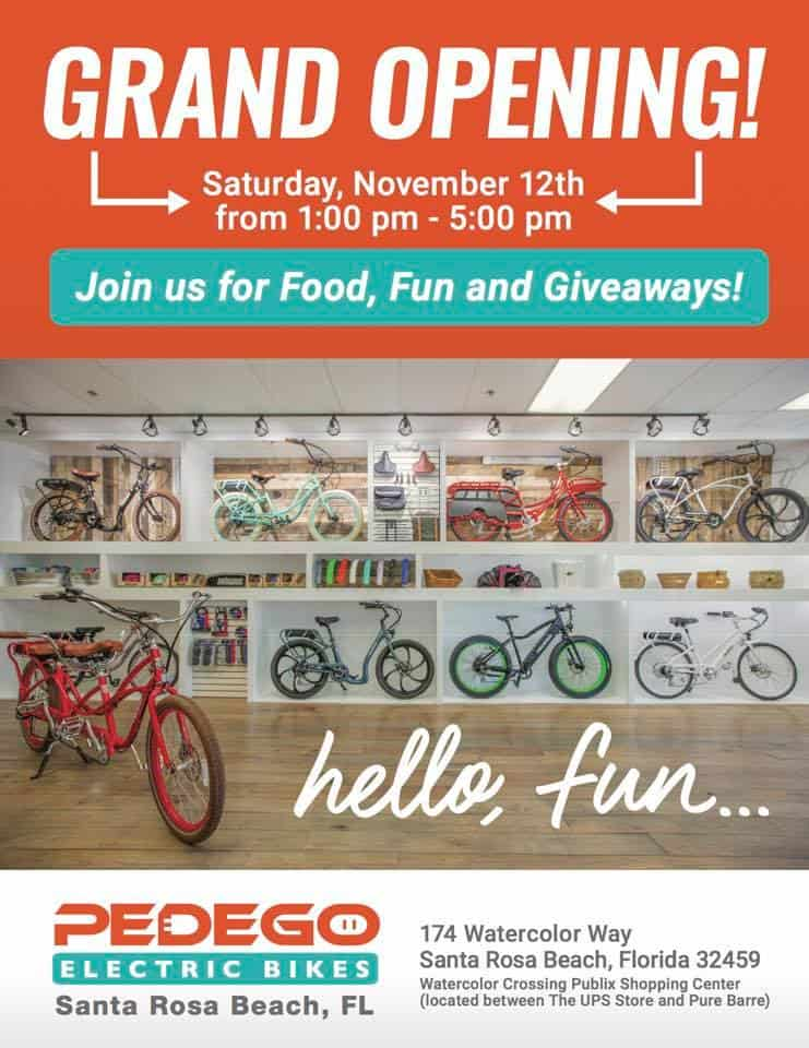 Pedego Electric Bikes 30A Grand Opening