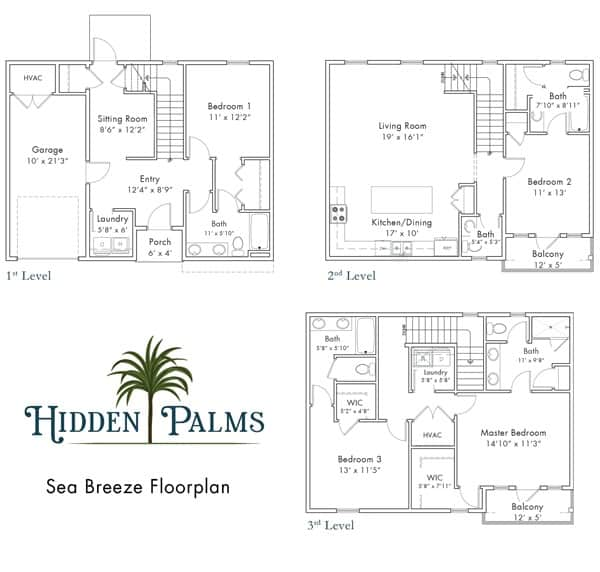 Sea Breeze floorplan Hidden Palms