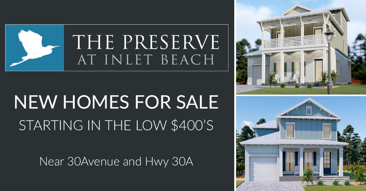 The Preserve at Inlet Beach logo and Powell rendering